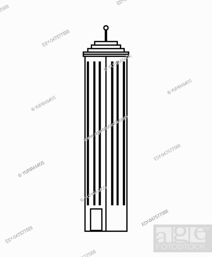 Stock Vector: exterior building isolated icon vector illustration design.