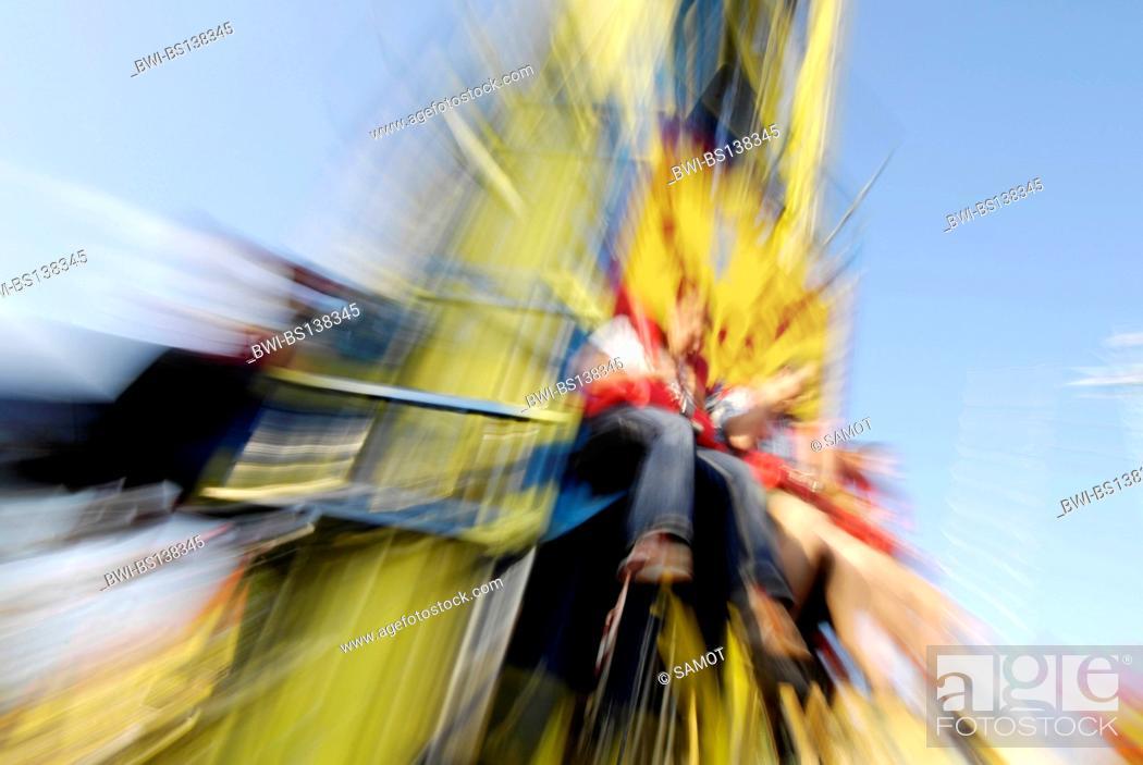 Stock Photo: people at the amusement park Wiener Prater, Austria, Vienna.
