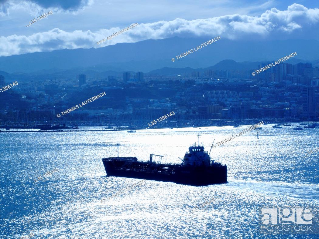 Stock Photo: Tanker in the port of Las Palmas, Gran Canaria, Spain.