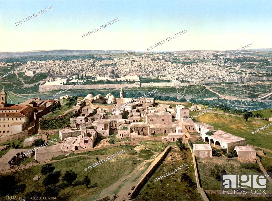 Imagen: Jerusalem, Holy Land, photochrom, circa 1890-1900.