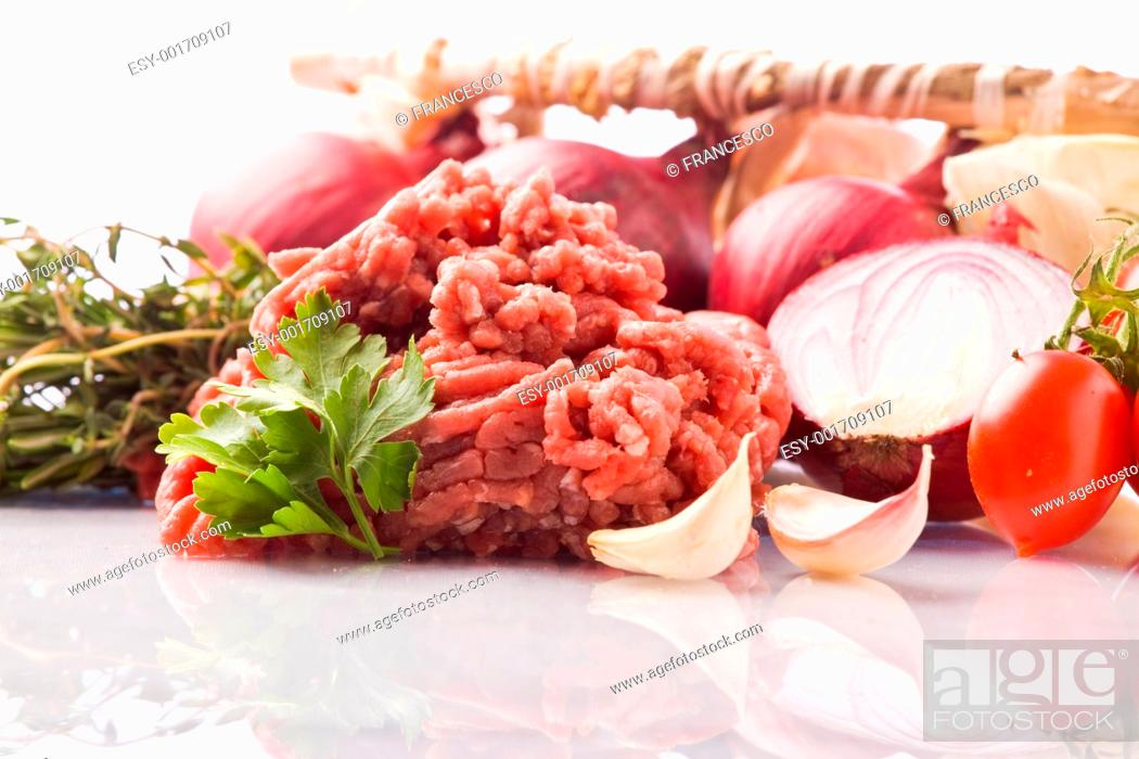 Stock Photo: Ingredients for Italian Tomato Sauce.