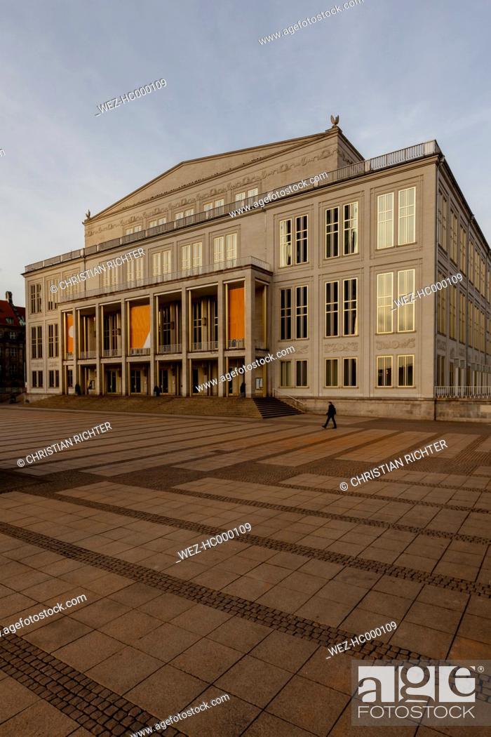 Germany Leipzig Opera House At Augustusplatz Stock Photo Picture And Rights Managed Image Pic Wez Hc000109 Agefotostock
