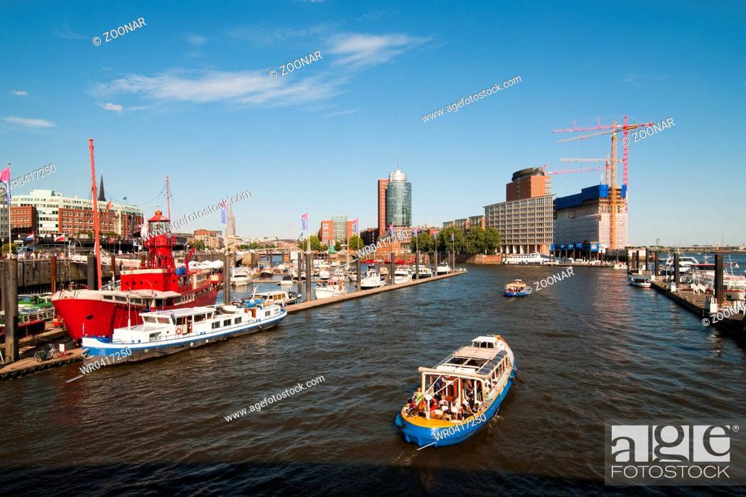 Stock Photo: Hamburg, Germany, Harbor.