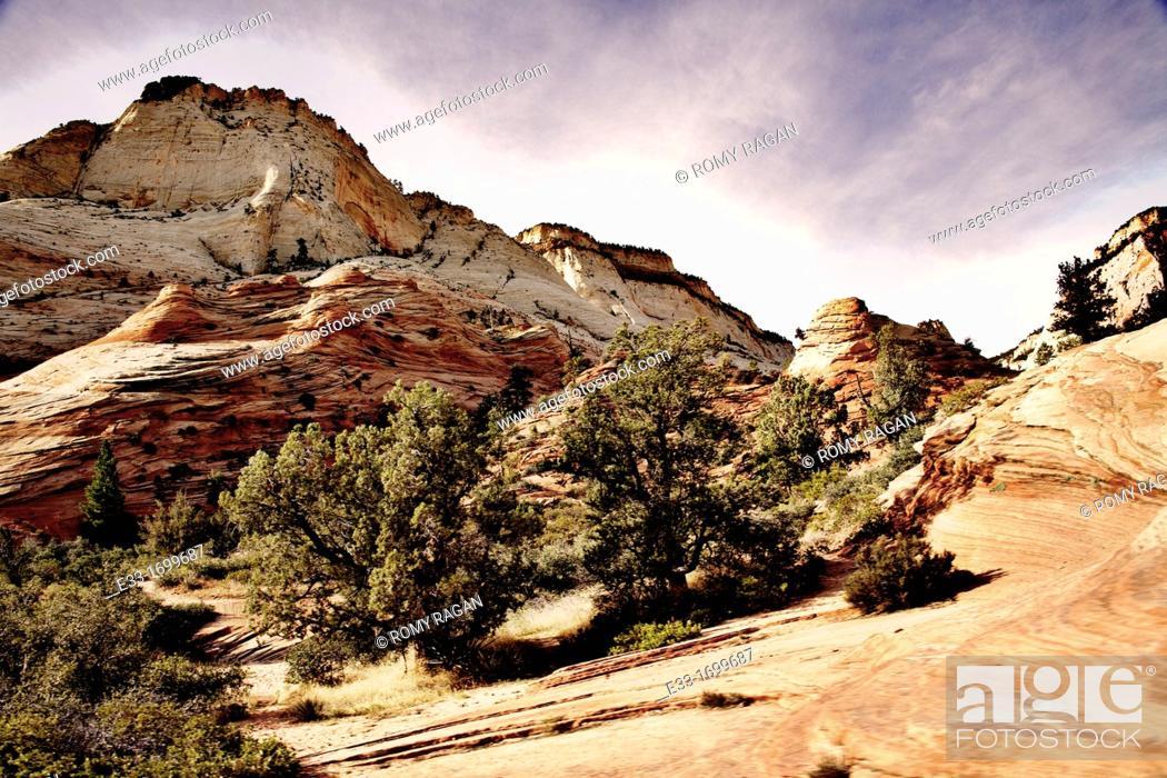 Stock Photo: Desert mountains.