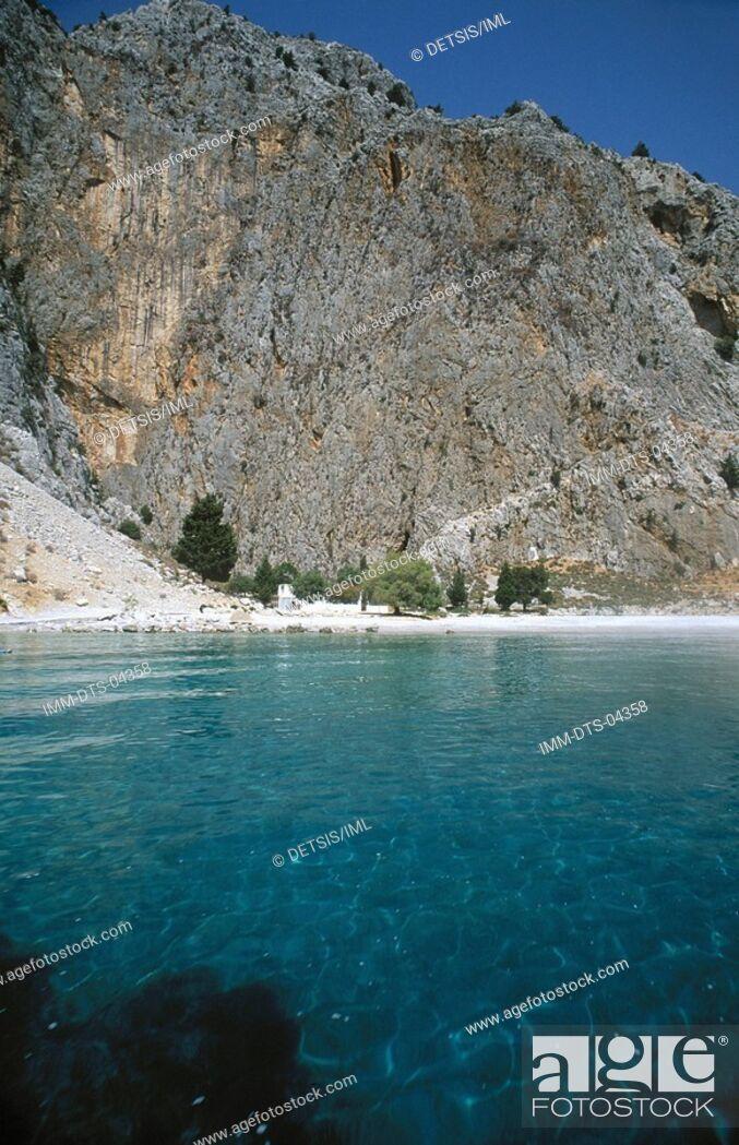 Stock Photo: Disalonas beach , Symi island, Dodecanese, Greece.