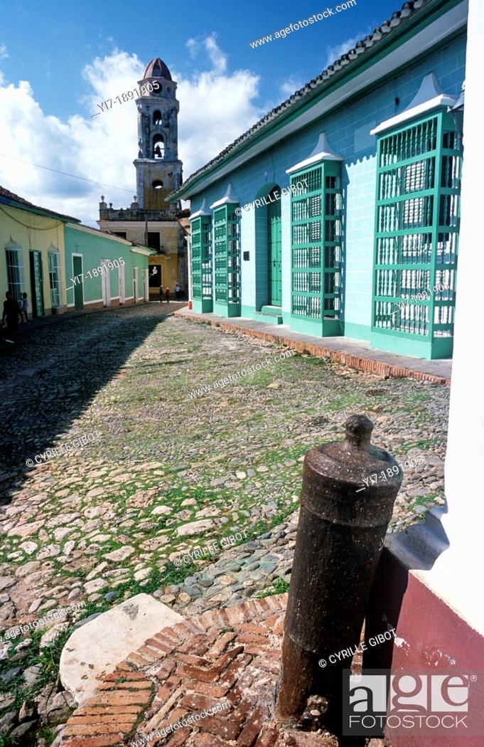 Stock Photo: Bell tower of the Convent of Saint Francis, Trinidad, Cuba, Greater Antilles.