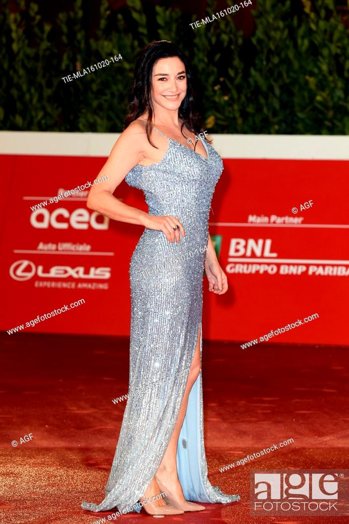 """Stock Photo: Sara Ricci attends the red carpet of the movie """"""""Supernova"""""""" during the 15th Rome Film Festival on October 16, 2020 in Rome, Italy."""