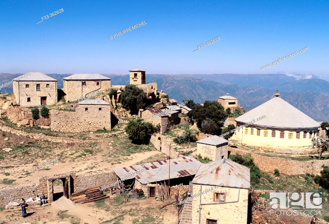 Stock Photo: Bizen monastery (2400m altitude). Eritrea.