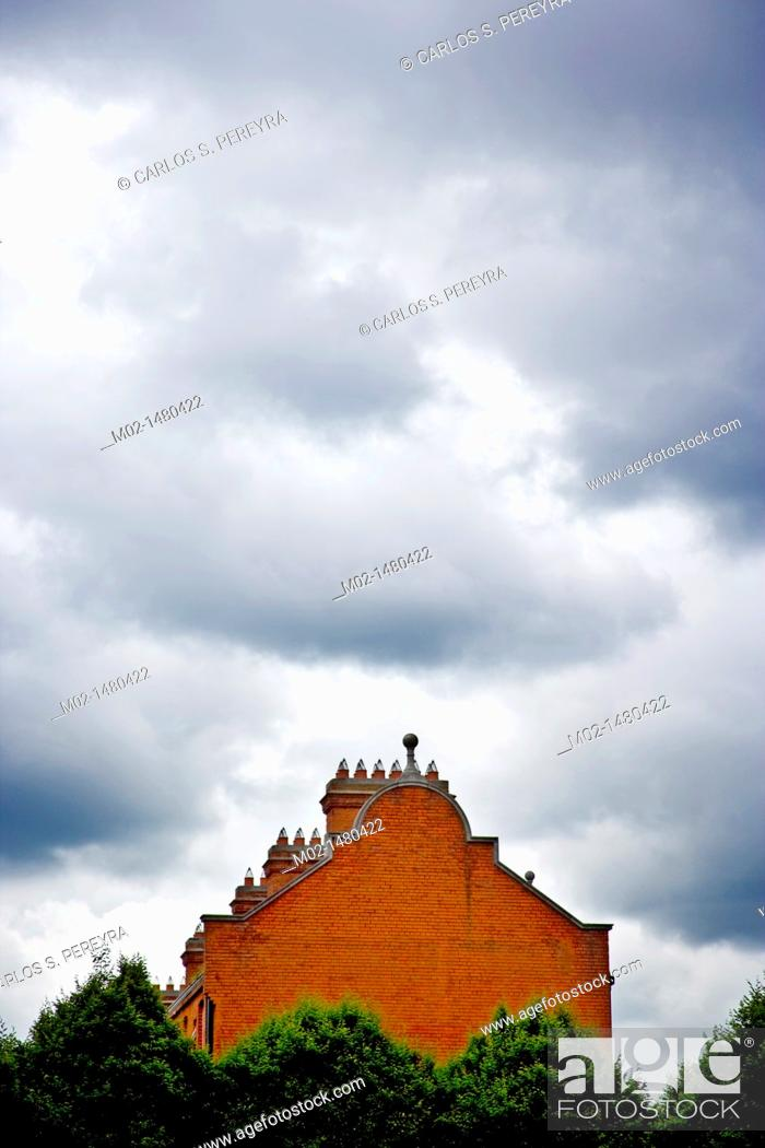 Stock Photo: Building and sky in Dublin, Ireland.
