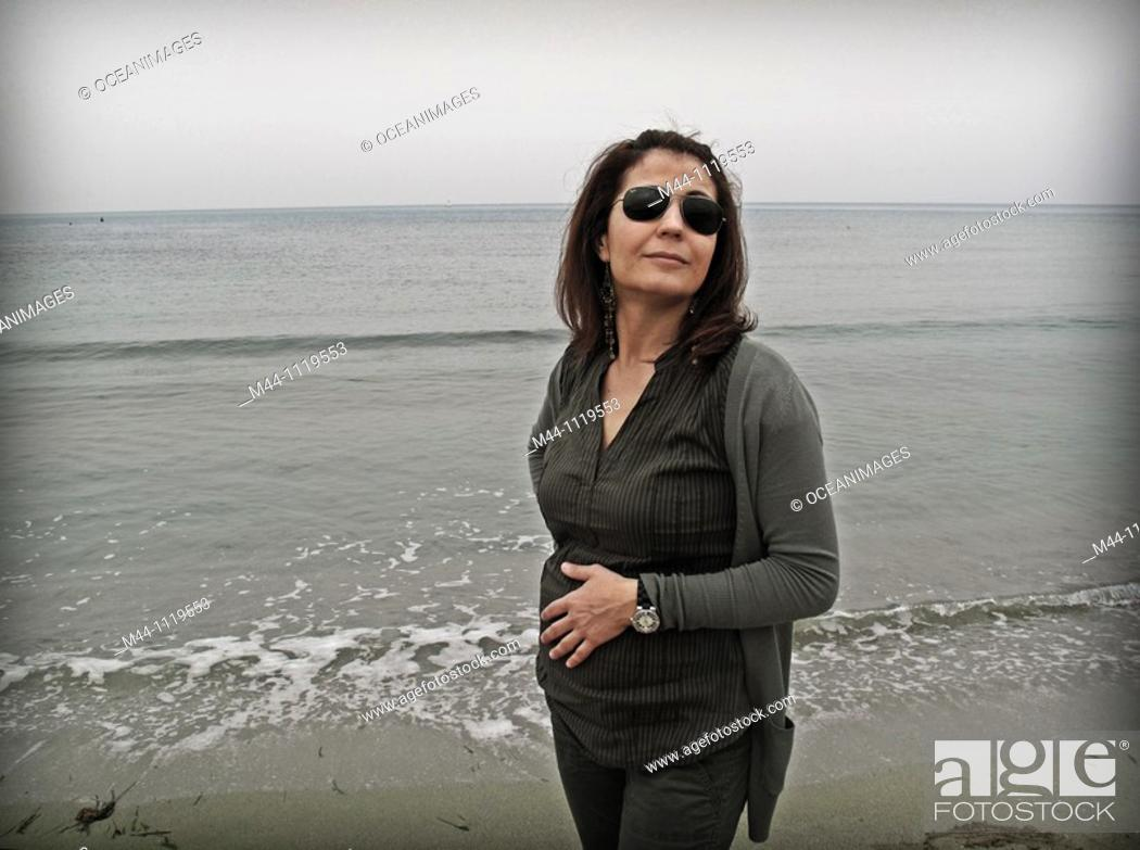 Stock Photo: Woman on beach.