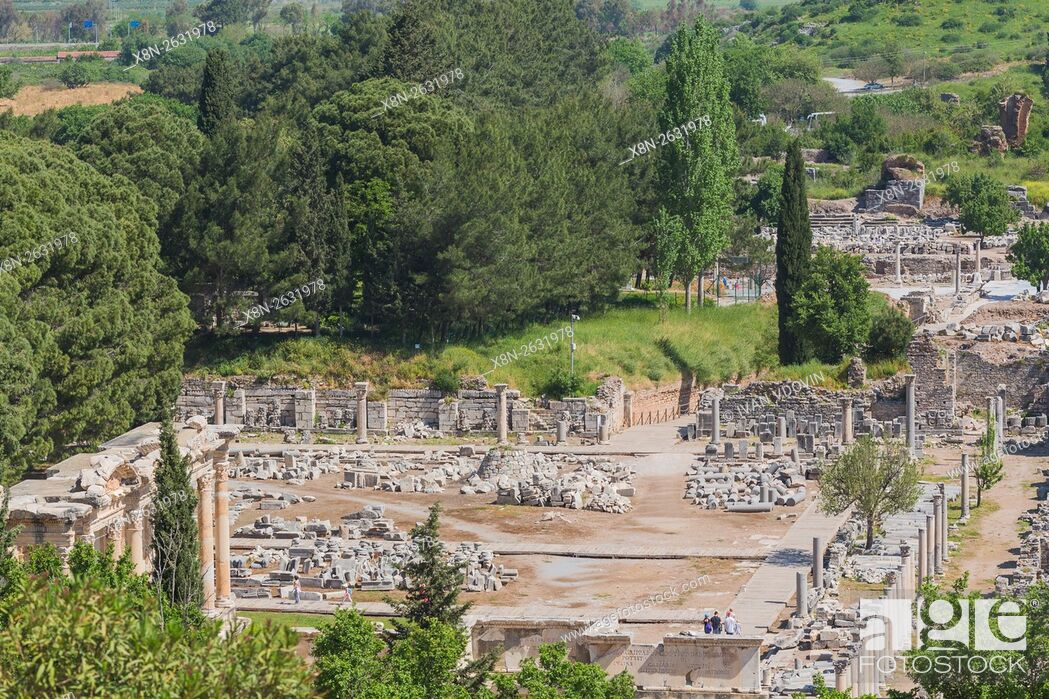 Stock Photo: Ruins of ancient Ephesus, Selcuk, Izmir Province, Turkey.