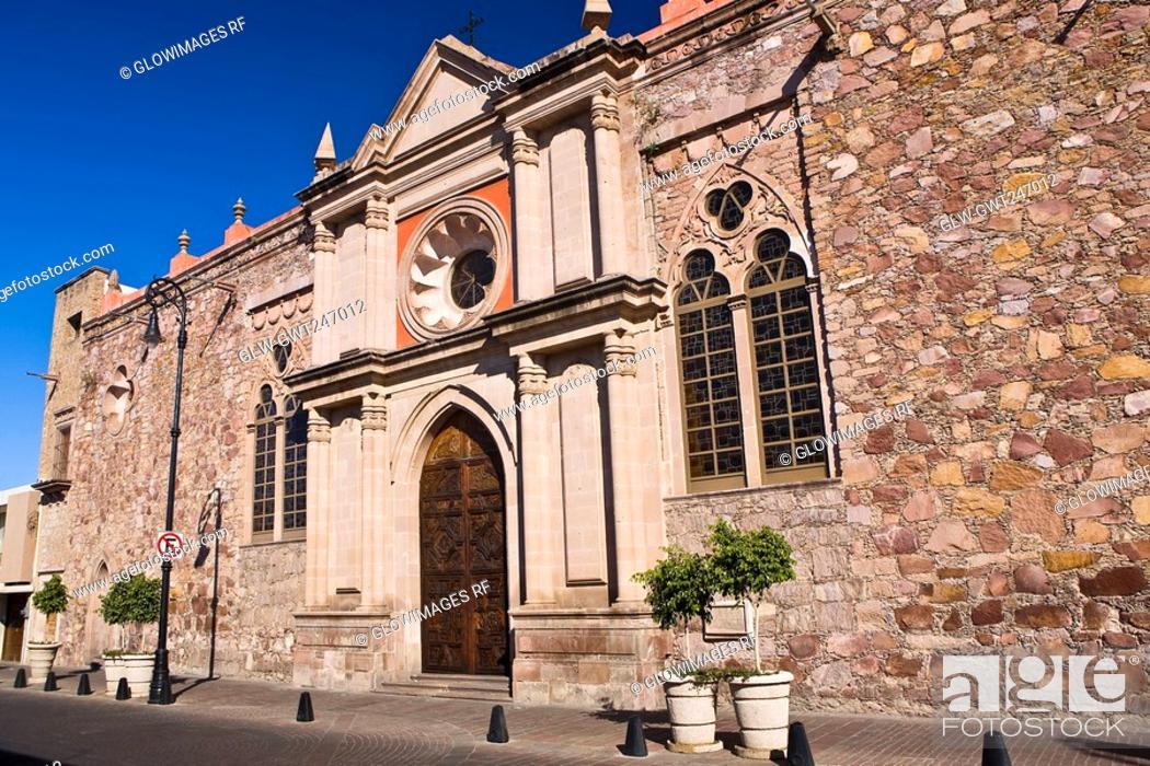 Stock Photo: Facade of a church, Aguascalientes, Mexico.