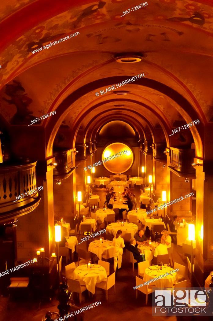 Stock Photo: Interior of the historic Kornhauskeller restaurant, Bern, Canton Bern, Switzerland.