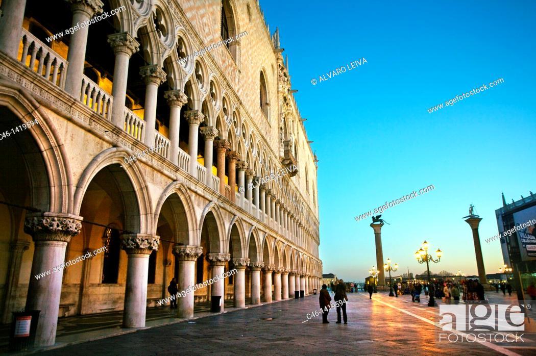 Stock Photo: Palazzo Ducale, St  Mark´s Square piazza San Marco, Venice, Veneto, Italy.
