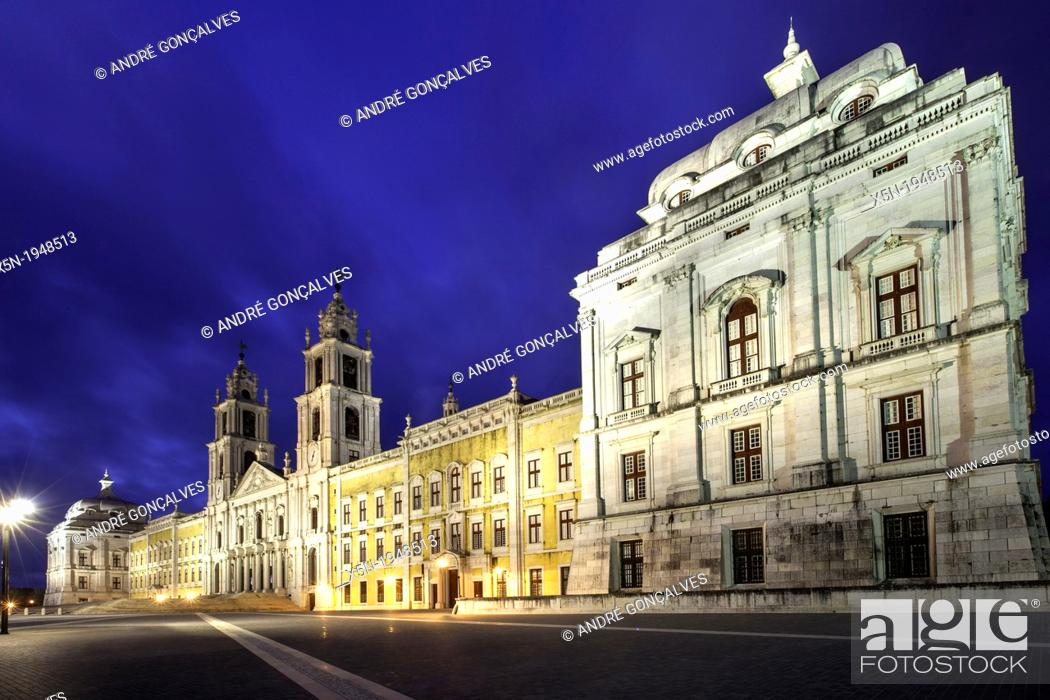 Stock Photo: Mafra National Palace.