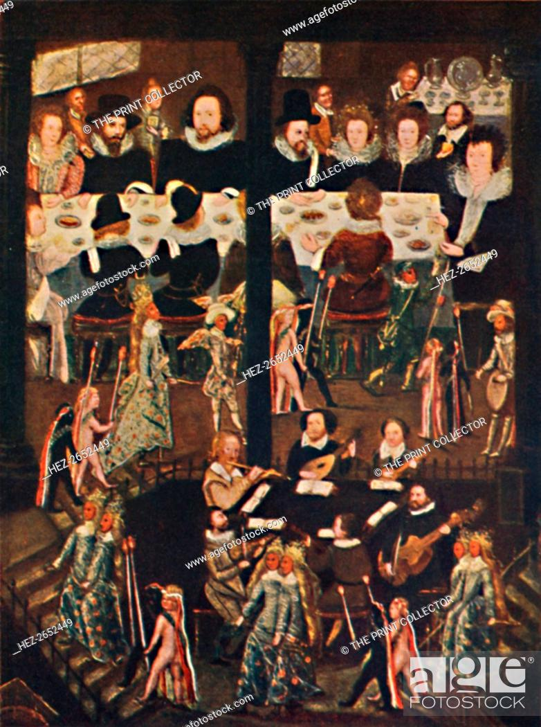 Stock Photo: 'Marriage Feast of Sir Henry Unton', c1596, (1903). From the collection of the National Portrait Gallery, London. From Social England, Volume III, edited by H.