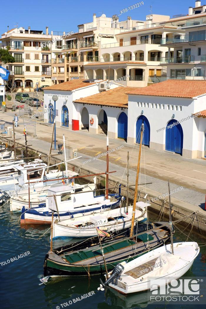 Stock Photo: Port of Cala Ratjada, Majorca, Balearic Islansd, Spain.