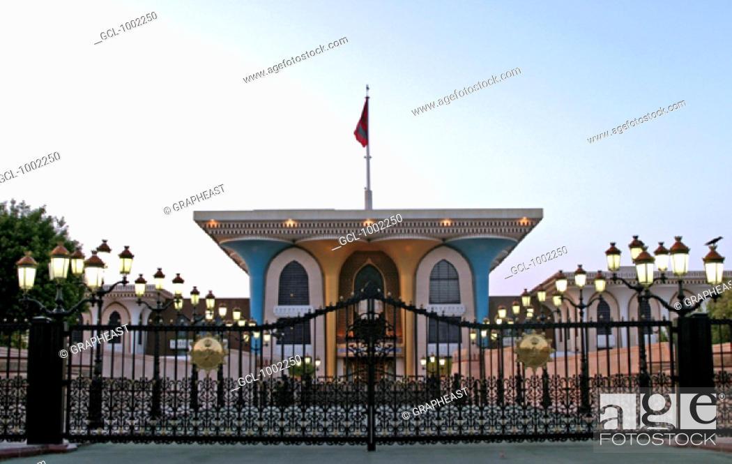 Stock Photo: Sultan Qaboos Palace, Muscat, Oman.