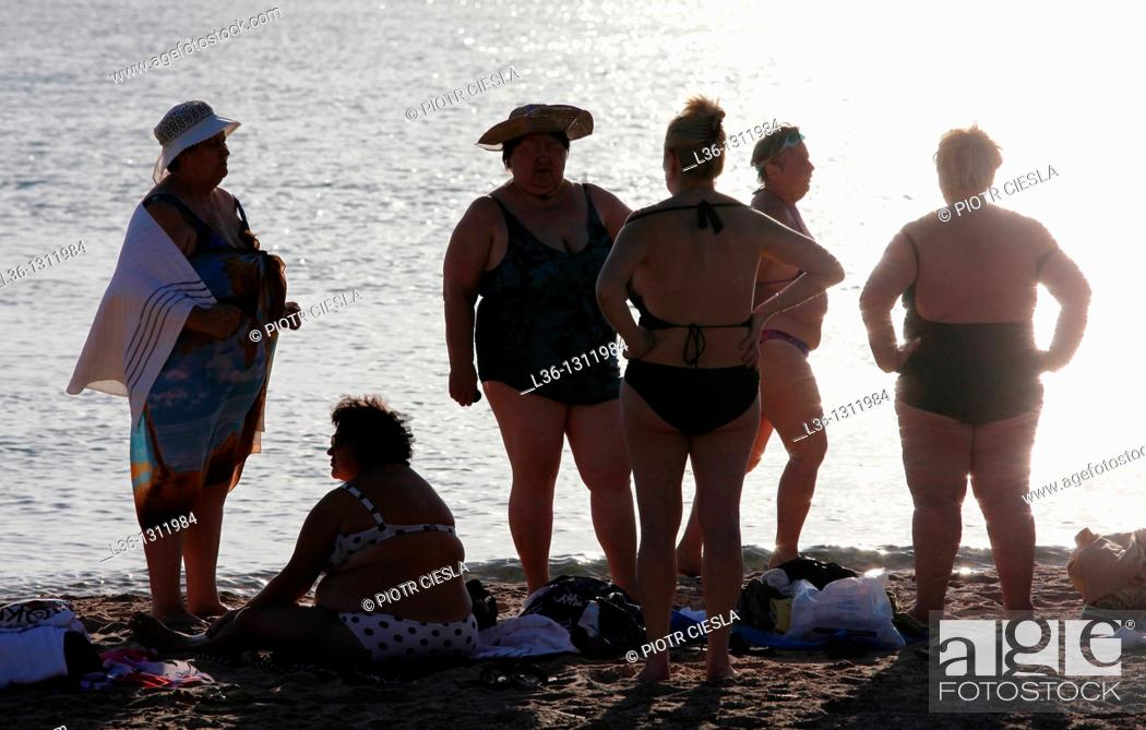Stock Photo: Israel  Eilat  A group of Russian women.