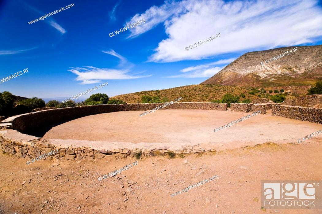 Stock Photo: Old ruins of a bullring, Real De Catorce, San Luis Potosi, Mexico.