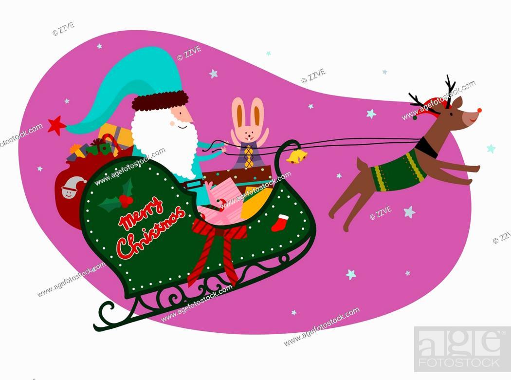 Stock Photo: Christmas sled.