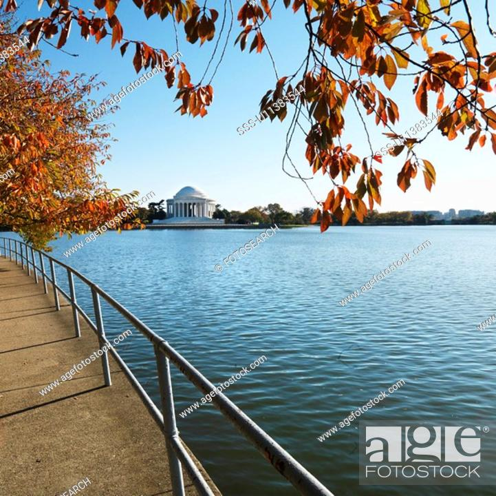 Stock Photo: Jefferson Memorial in Washington, D.C., USA.