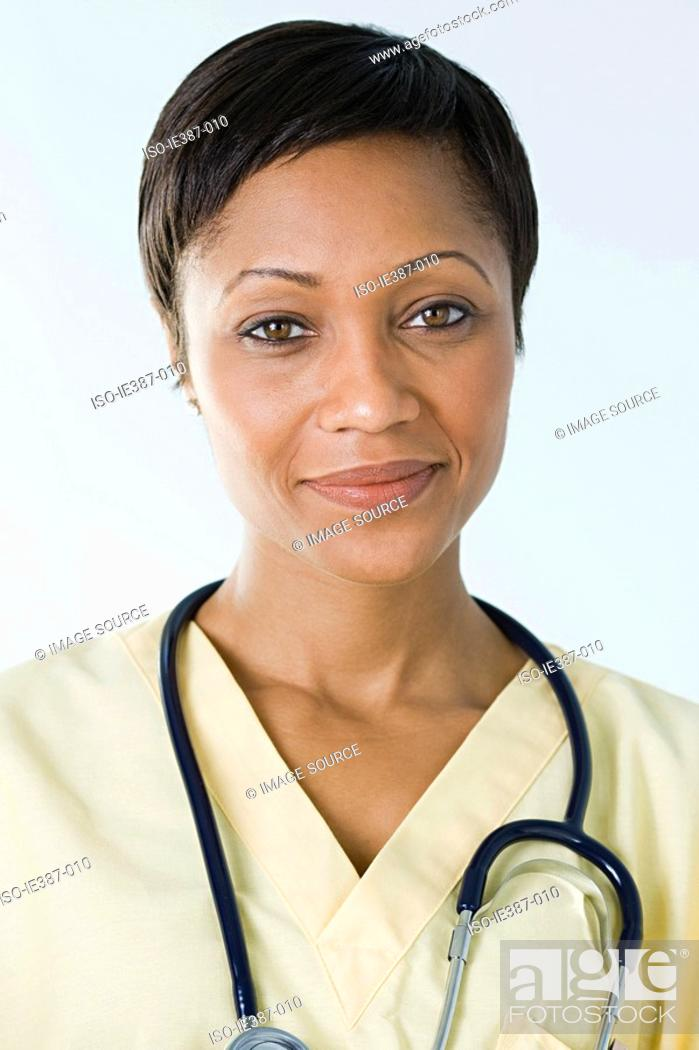Stock Photo: Portrait of a nurse.