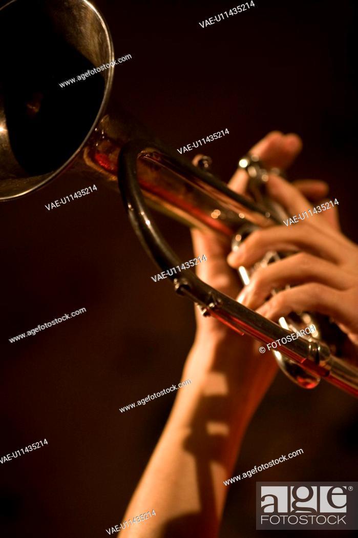 Stock Photo: Trumpet.