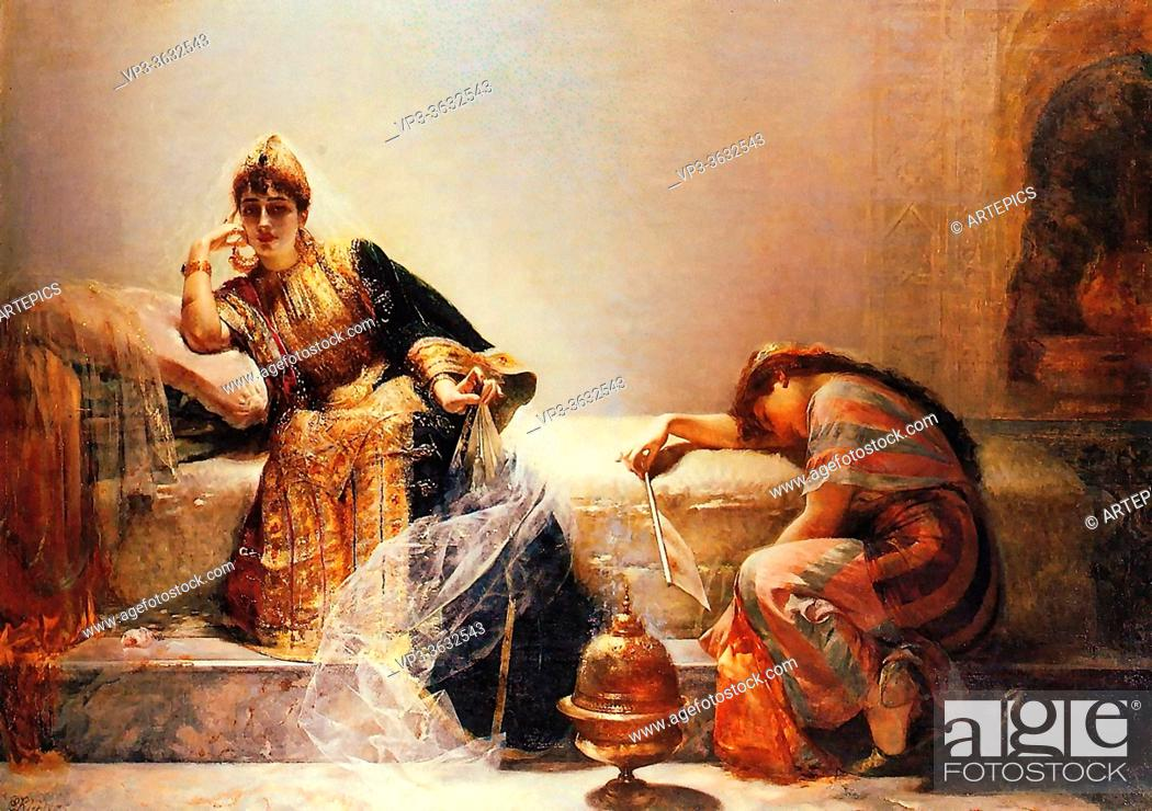 Imagen: Richter Edouard FréDéric Wilhelm - Sheherazade - French School - 19th and Early 20th Century.