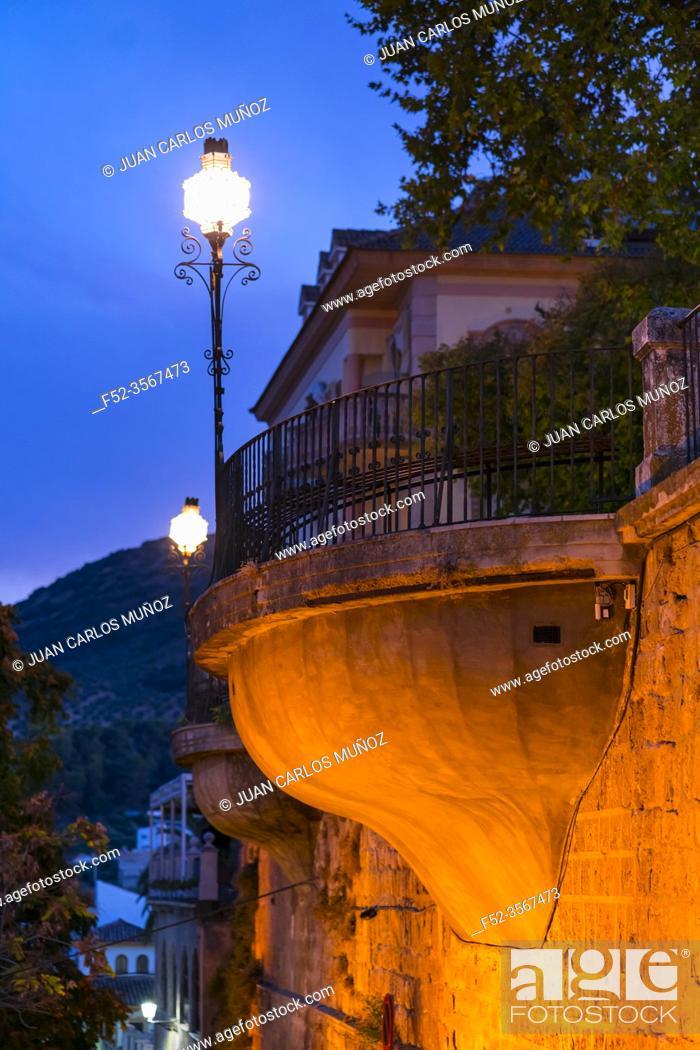 Imagen: Adarve lookout, de la Villa neighborhood, Priego de Cordoba town, Cordoba province, Andalusia, Spain, Europe.