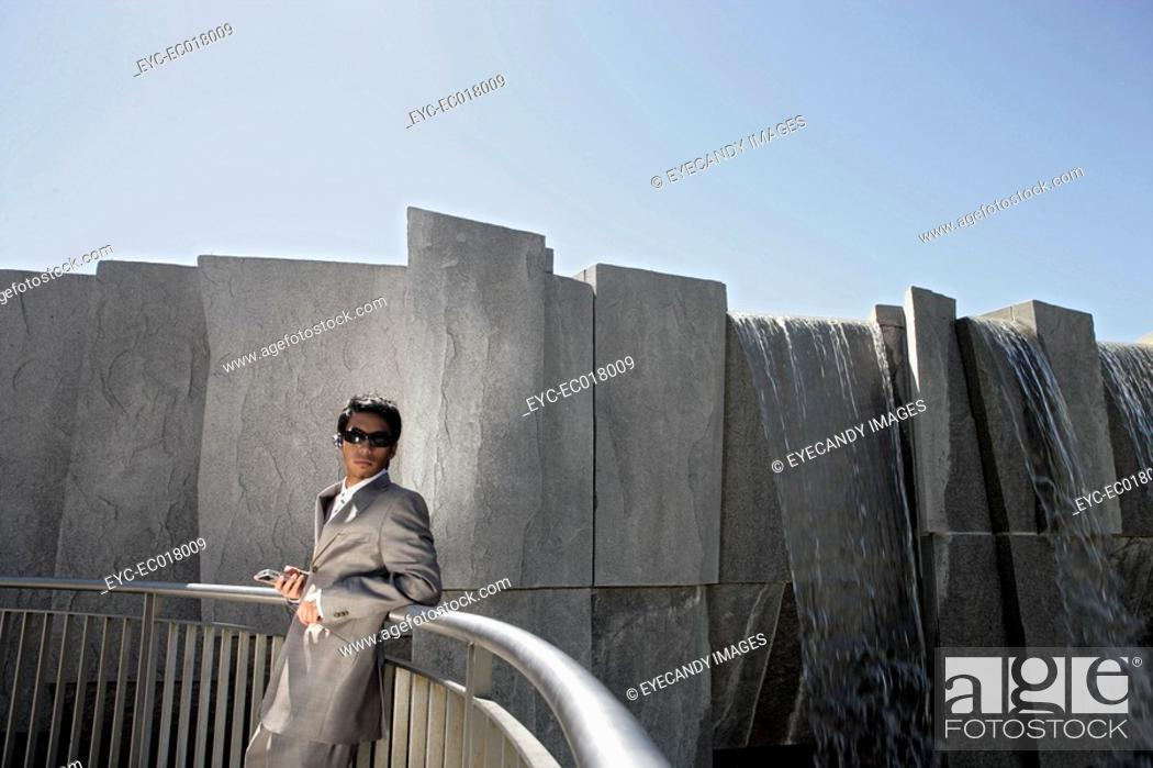 Stock Photo: Portrait of an executive wearing a suit.
