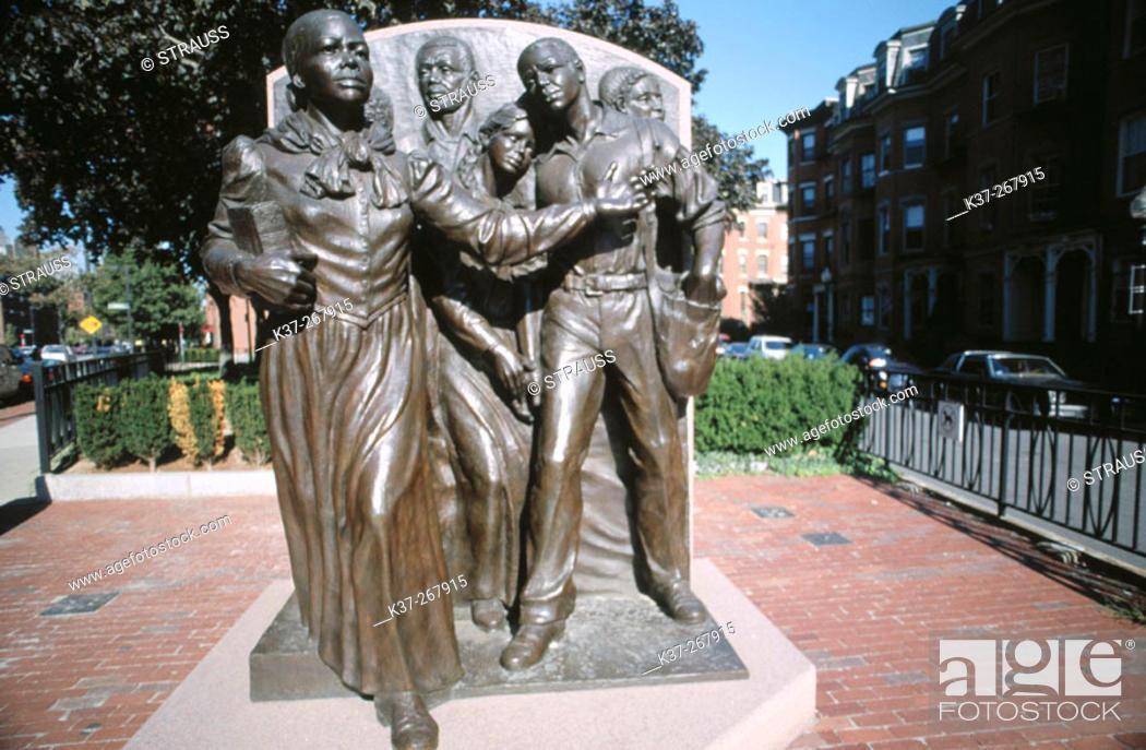 Stock Photo: Civil Rights leader Harriet Tubman statue. South End. Boston. Massachusetts. USA.