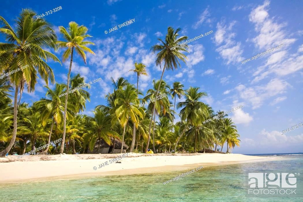 Stock Photo: Dog Island, Comarca de Kuna Yala, San Blas Islands, Panama, Central America.