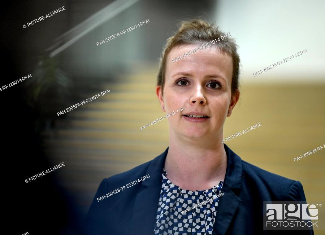 Stock Photo: 28 May 2020, Berlin: Gyde Jensen, spokeswoman of the FDP parliamentary group and chairwoman of the Human Rights Committee makes a statement on the Security Law.