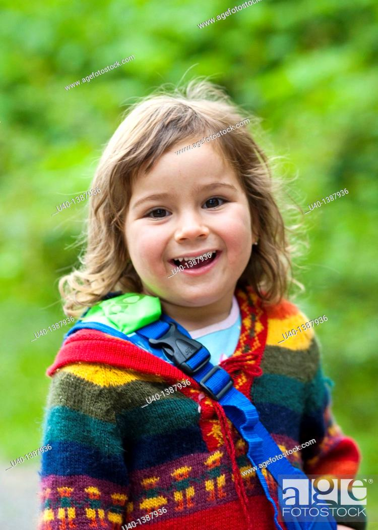 Stock Photo: Young girl in sweater.