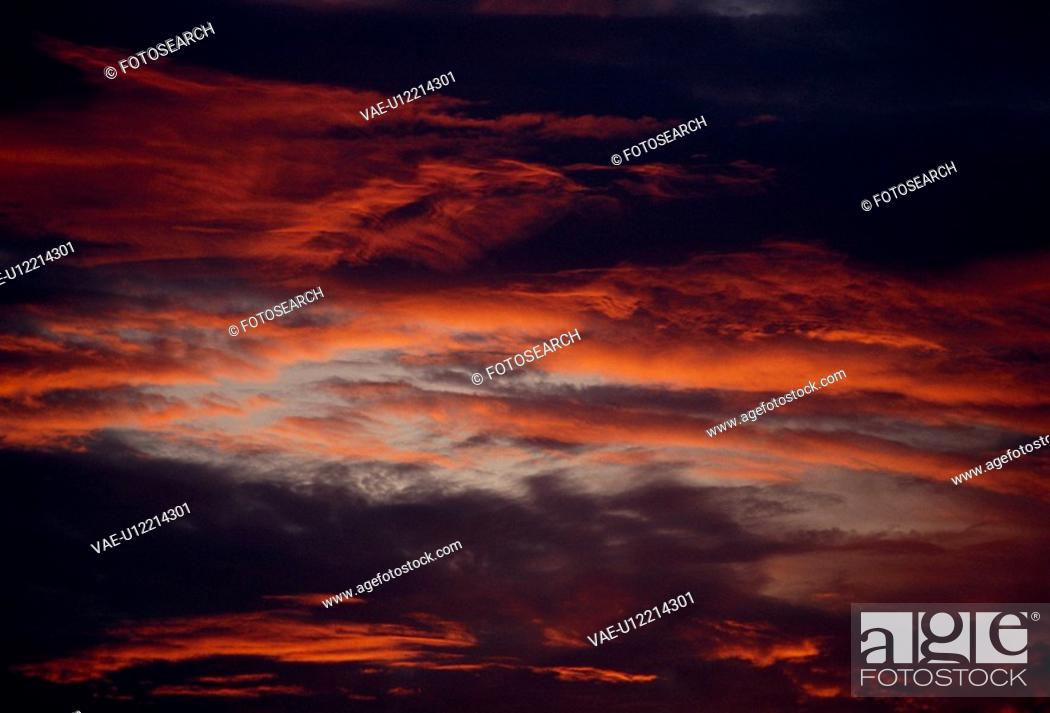 Stock Photo: Evening Glow And Clouds.