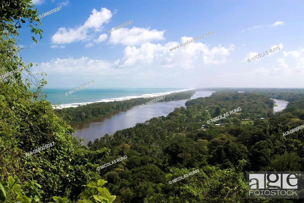Stock Photo: Canals into rainforest - Tortuguero.