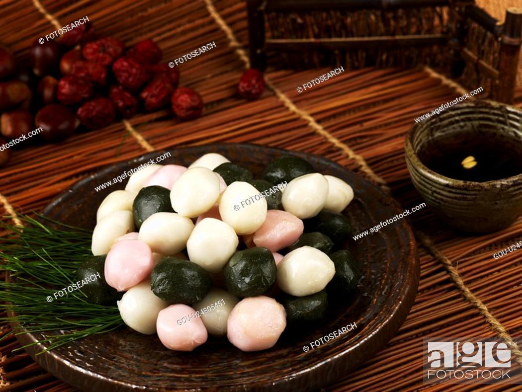 Stock Photo: autumn, jujube, fall, chestnut, pine needle, songpyeon.