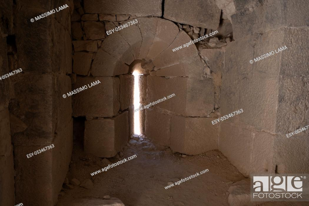 Imagen: medieval crusaders castle, Shobak, Jordan, Middle East.