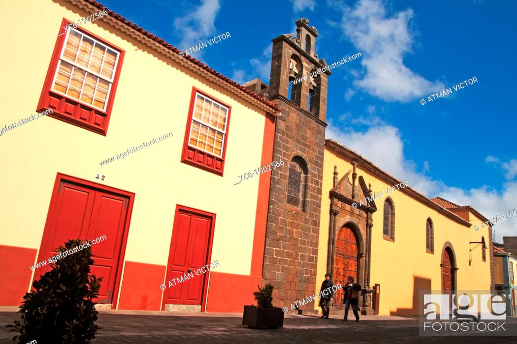 Stock Photo: Old church in San Cristóbal de La Laguna, Tenerife. Canary Islands, Spain.