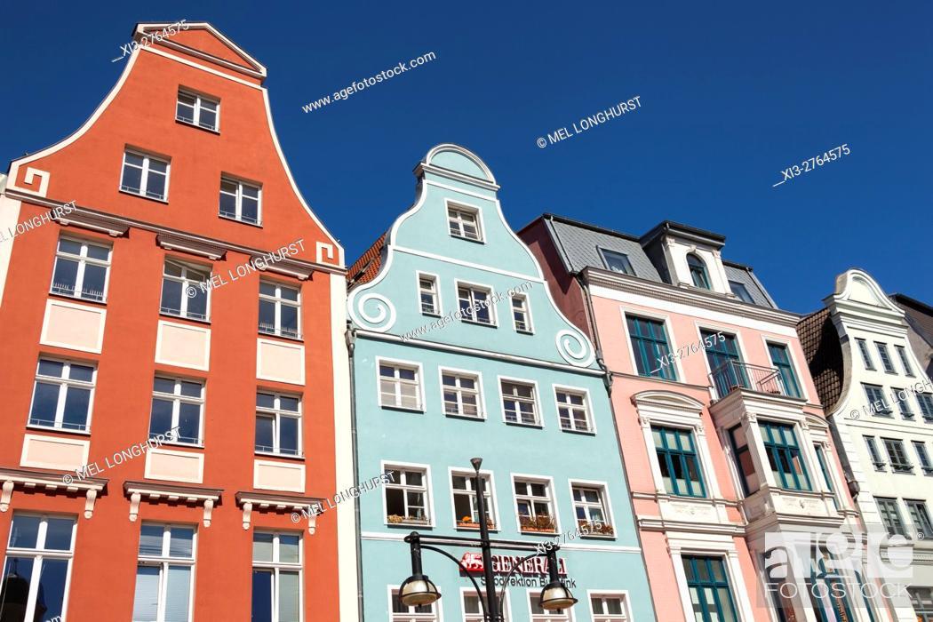 Stock Photo: Buildings in Kropeliner Strasse, Rostock, Mecklenburg-Vorpommern, Germany.