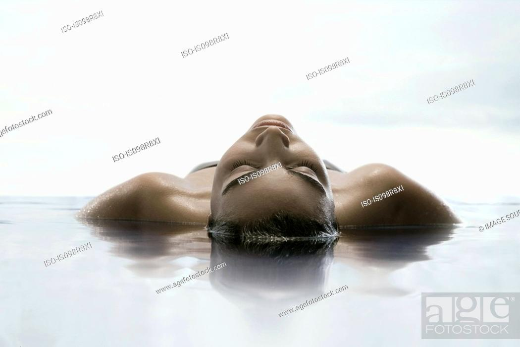 Stock Photo: Young woman in water.
