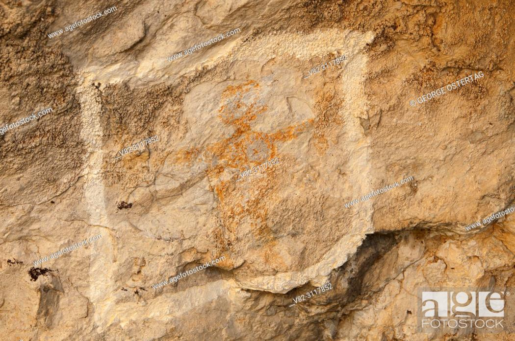 Stock Photo: Pictograph, Missouri Headwaters State Park, Montana.
