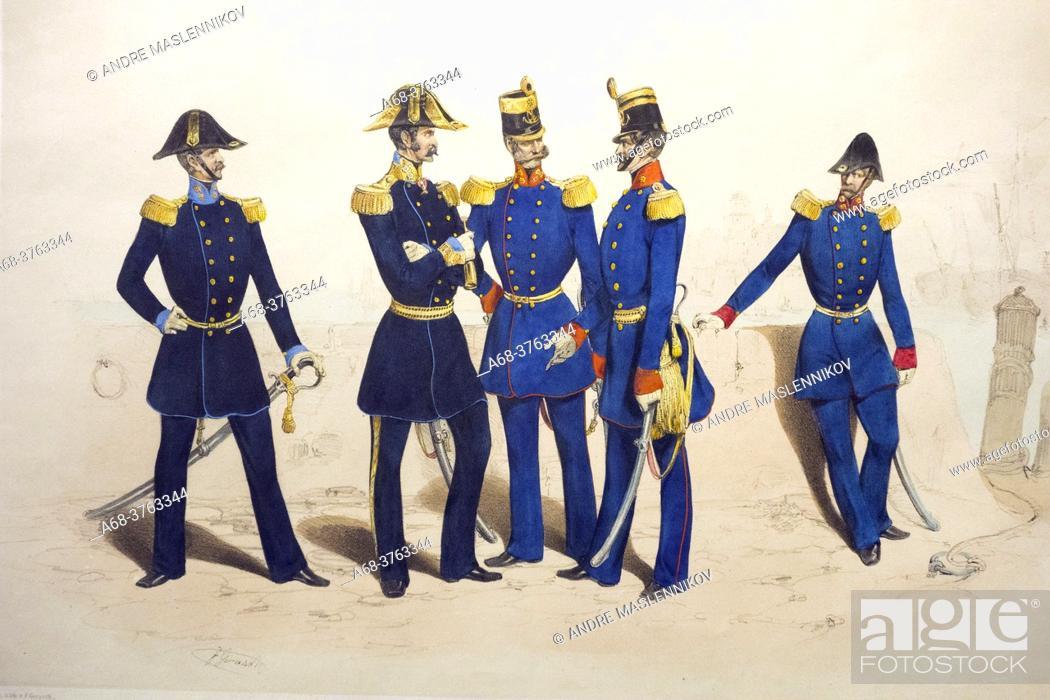 Stock Photo: Austrian uniforms around 1850. Army History Museum in Vienna. Austria.