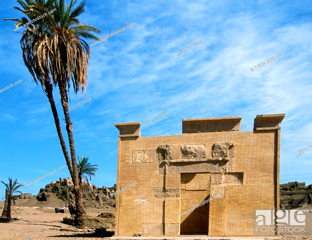 Stock Photo: Egypt, Aswan, Elephantine Island, Ptolemaic shrine of Kalabsha,.