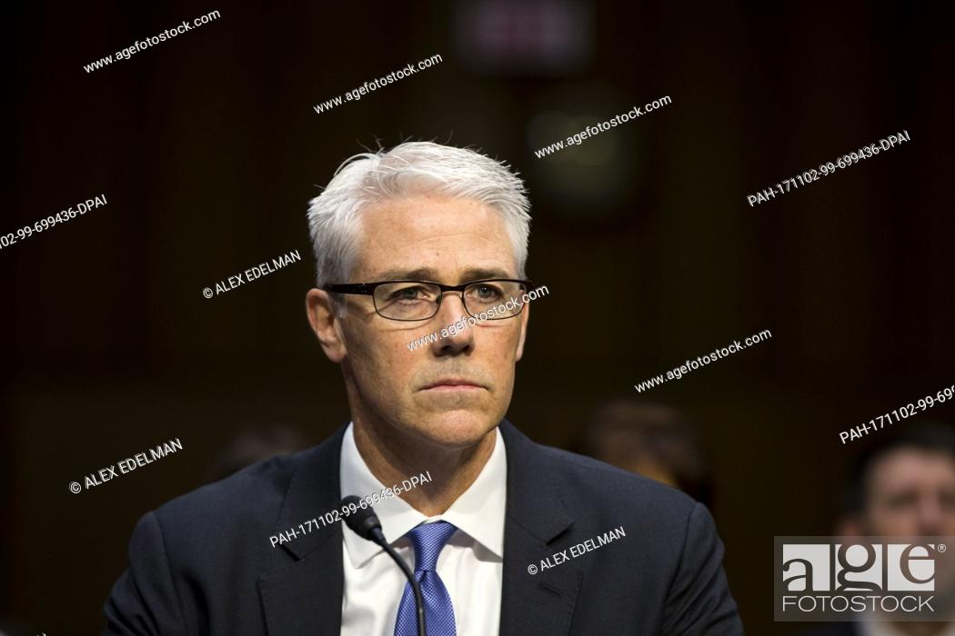 Facebook General Counsel Colin Stretch as he testifies before the