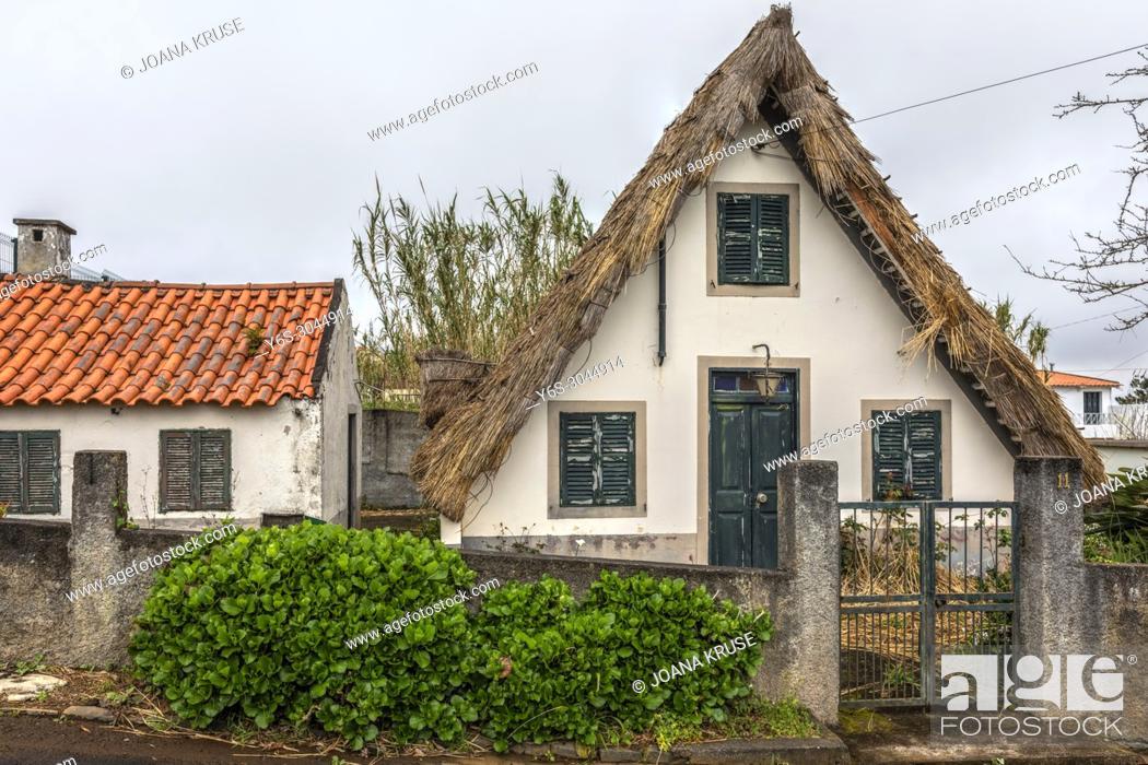 Stock Photo: typical Santana houses, Madeira, Portugal, Europe.