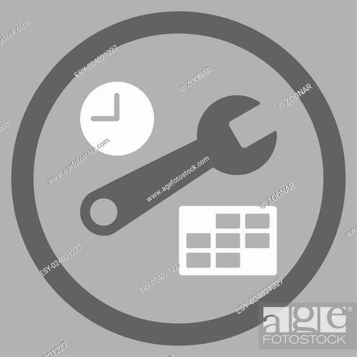 Stock Photo: Date And Time Setup Icon.