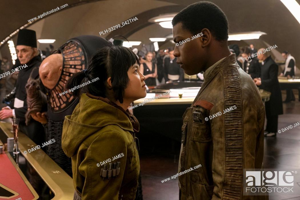 """Stock Photo: """"""""""""Star Wars: The Last Jedi"""""""" (2017) L to R: Rose (Kelly Marie Tran) and Finn (John Boyega) Lucasfilm Ltd."""