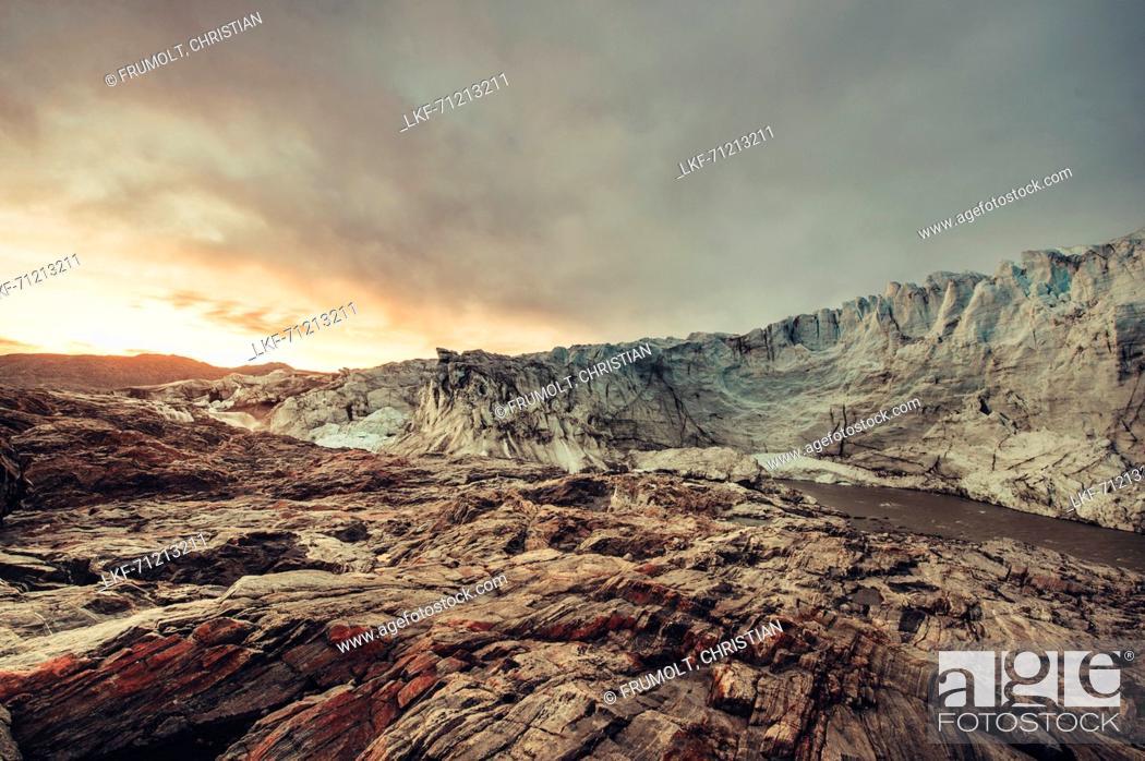 Stock Photo: Russel Glacier, Greenland, Denmark, Europe.